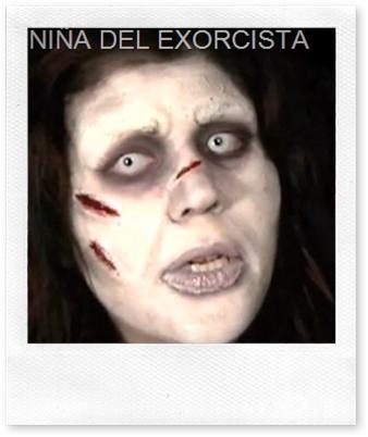 nmaquillaje niña del exorcista nosdisfrazamos.com