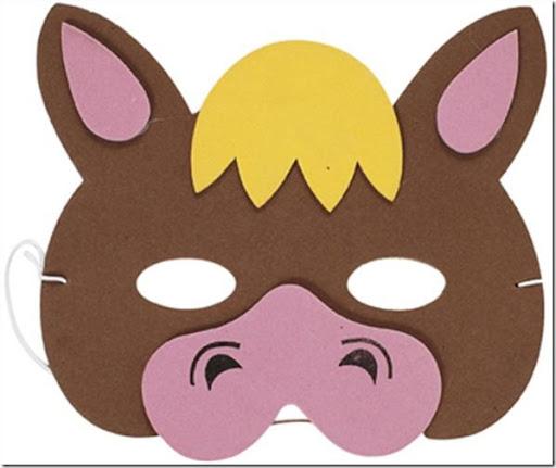 Antifaces o mascaras de animales de fomi