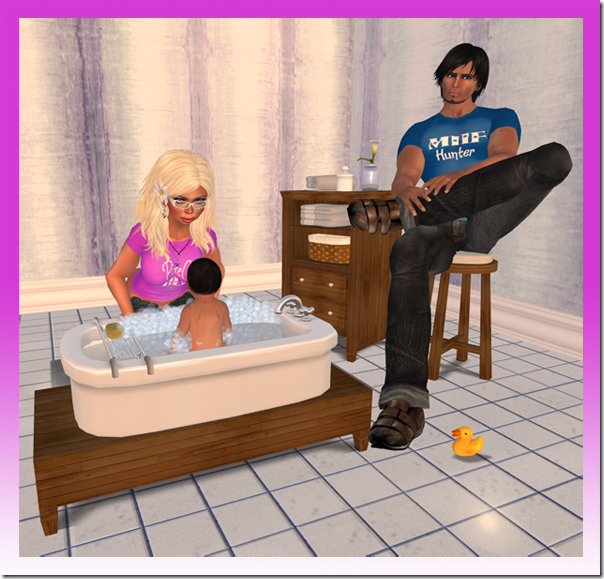 Pixel MILF   MILF Hunter Giving Baby A Bath 01