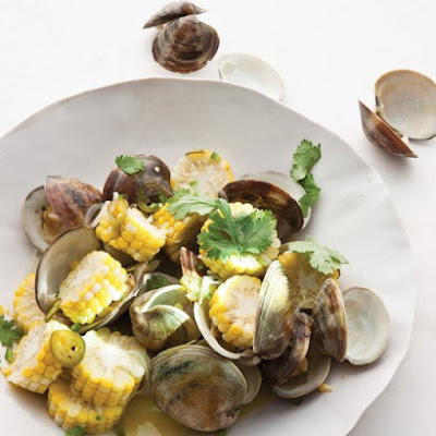 Steamed Clams and Corn