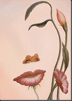 mulher desenhada de rosa
