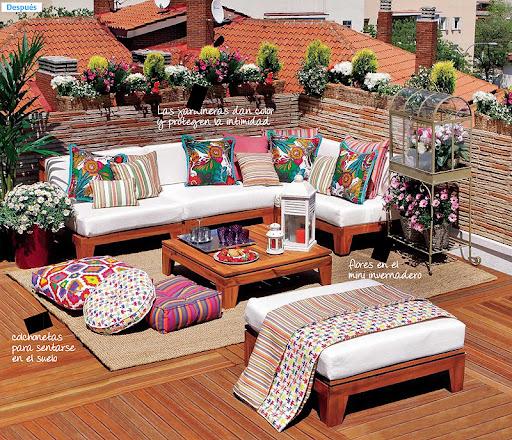 Dream homes una terraza llena de vida for Accesorios para terrazas