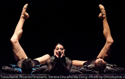 Tulsa Ballet, Ricardo Graziano, Serena Chu and Ma Cong  by Christopher Jean-Richard