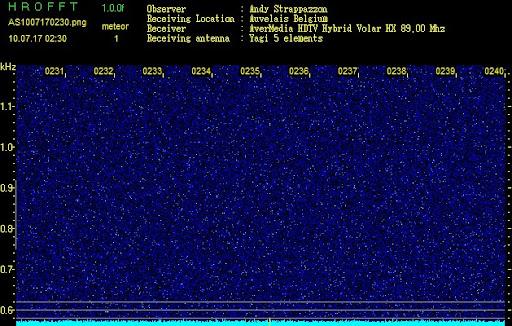 Detection des météores AS1007170230