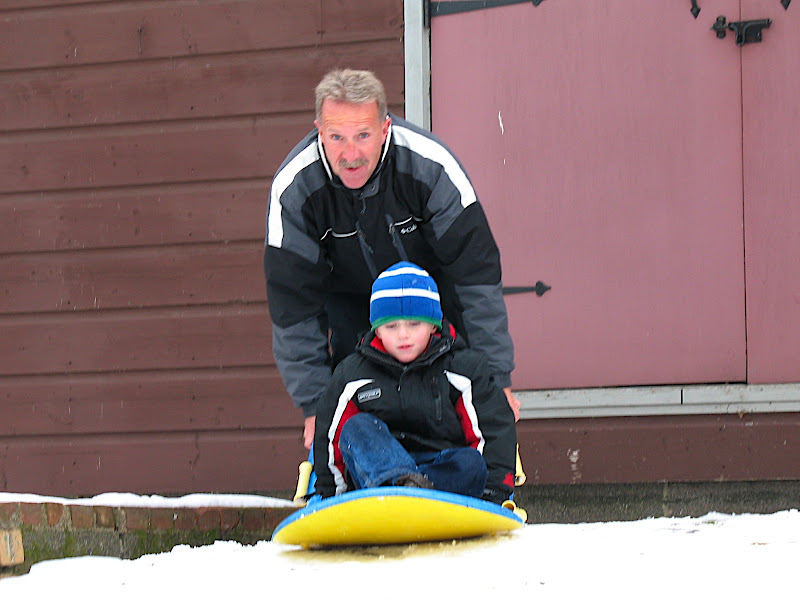 Father and Son sledding