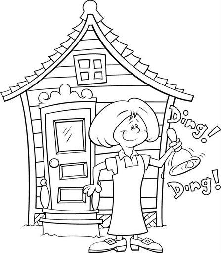 Dibujo de escuelas infantiles para colorear  Imagui