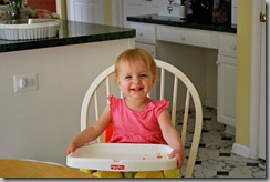 abby in highchair