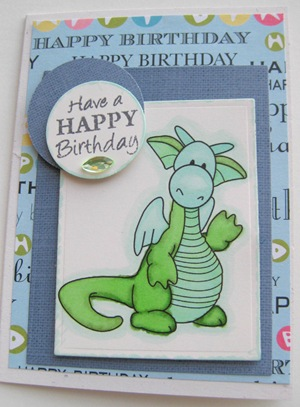 121709 Rupert Dragon Card happy Birthday