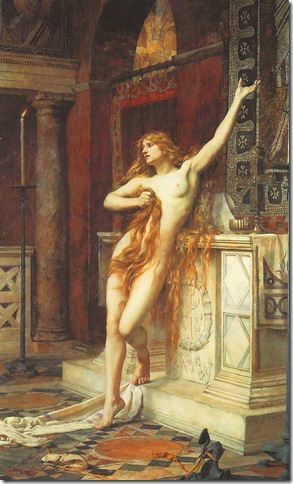 Hypatia, 1885, by Charles William Mitchell (1854 - 1903)