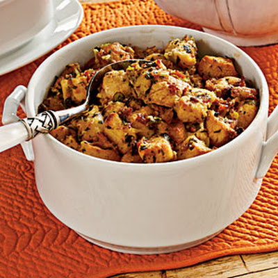 Sausage-and-Smoked Mussel Stuffing