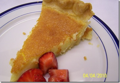 Buttermilk Pie Strawberries