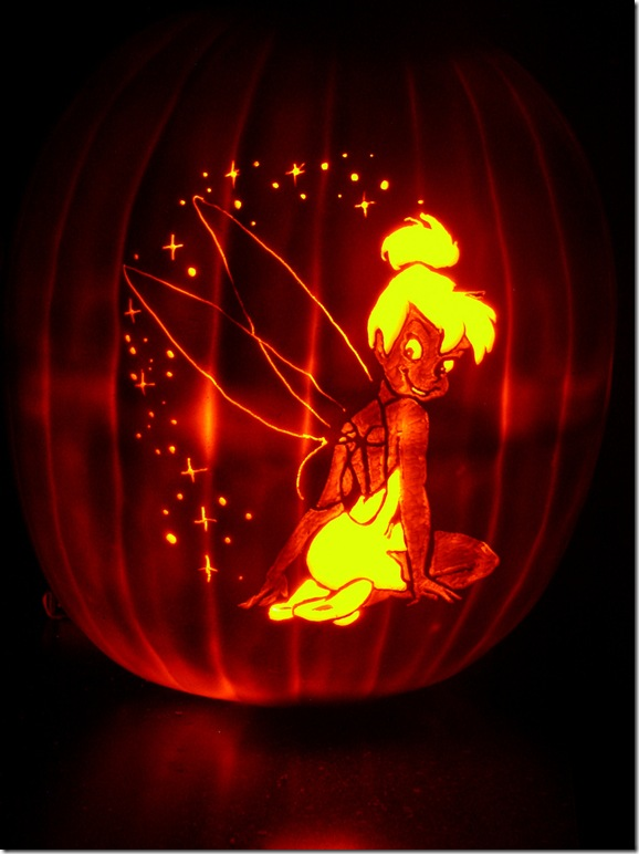 Cakes with Character: Magical Tinkerbell Jack O\'Lantern