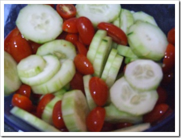 cumcumber tomato mix