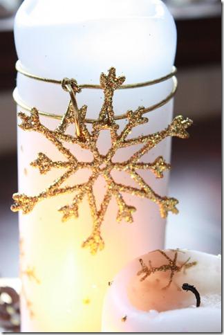 adventstake hvite lys jul gull