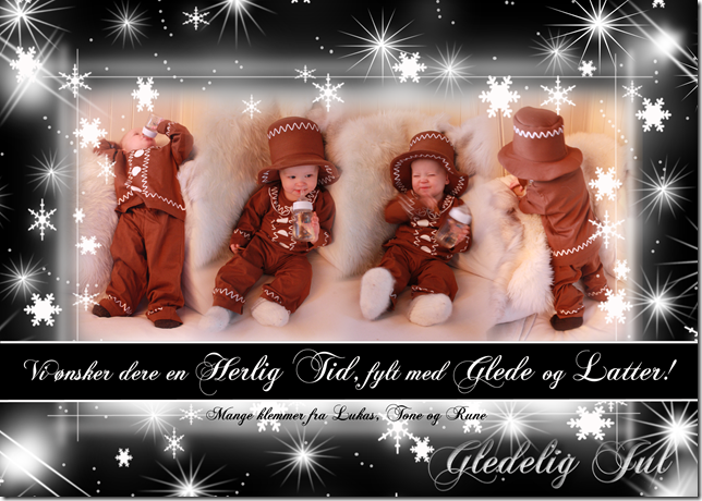 pepperkakegutt julekort jul julekortbilde  inspirasjon