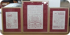 3 framed redwork