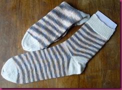 Socken Spirale_beige