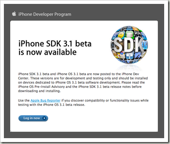 iPhone SDK Download Screen