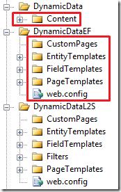 Linq to SQL folders