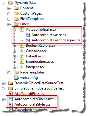 Autocomplete files