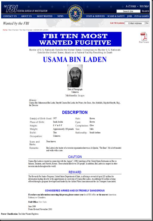 FBI — USAMA BIN LADEN