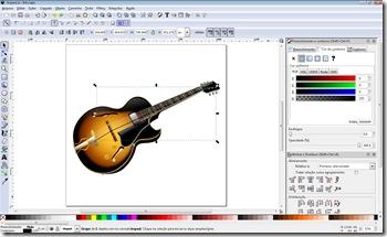Inkscape 0.47 editando uma imagem gerada no Adobe Illustrator
