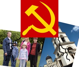 Montagem: Socialismo  X  (Família + Igreja)