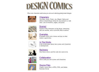 Design Comics (screenshot da página inicial)