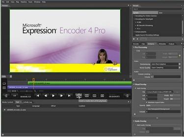 Tela do Microsoft Expression Encoder 4 (Fonte: www.ilovefreesoftware.com)