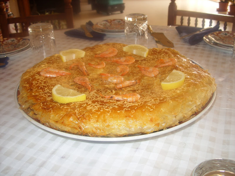 Pastilla au poulet et aux champignons au goût de poisson