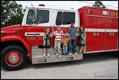 Fire truck with kids