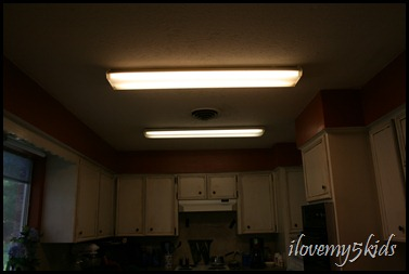 garage lights in kitchen...get out!