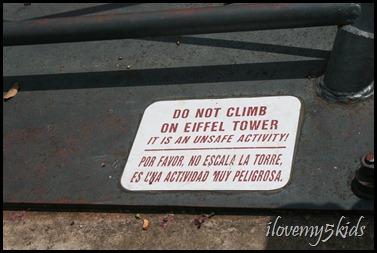 Do NOT climb!