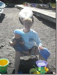 Grandma Garff at the beach