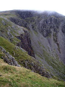 Looking up towards High Stile