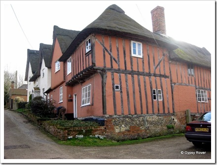 The village of Kersey dates back to the Doomsday book. This house was built around 1380.