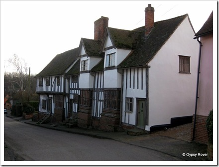 The beautiful village of Lavenham.