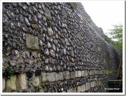 How many millions of stones would have been collected just to build this part of the fortified wall around Canterbury?