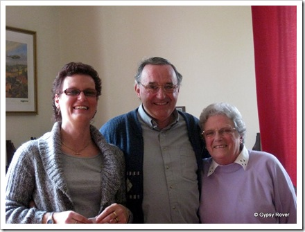 Ruth, Derek & Phyl all part of the Canvin Family tree.