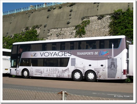 Fancy European tour coach at Brighton.