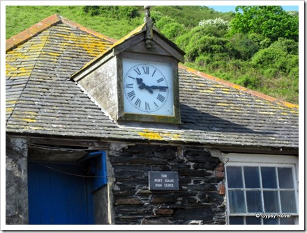 Unusual town clock at Port Isaac.