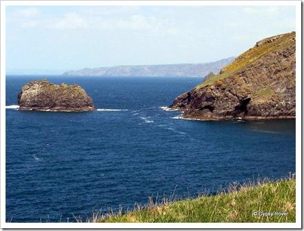 Rugged Cornish coastline.