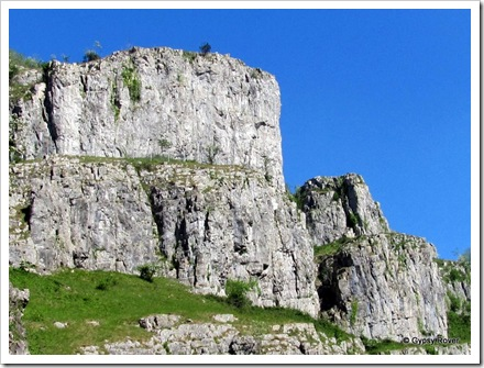 The rugged sides of the Cheddar Gorge.
