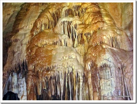Water and minerals created these beautiful formations inside Gough's cave.