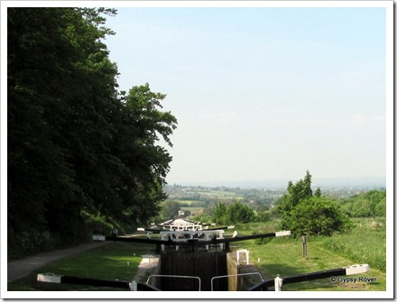 We've been up and down here before. The Caen Flight on the Kennet & Avon canal.