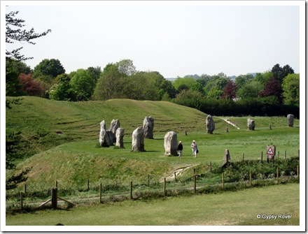 A good view of the Avebury ring of stones.