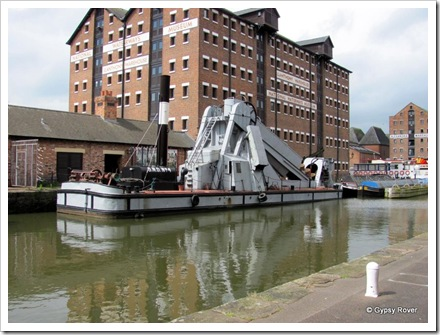 Gloucester Dock's old steam powered dredger.
