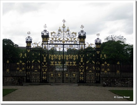 Tredegar House. The original main gates. The !8thC driveway led straight up over the hill.