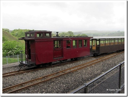 Brecon Mountain Railway. The Caboose at the end of the train.