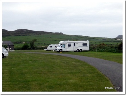 Gypsy Rover at Lleithyr Meadow campsite, Whitesands.